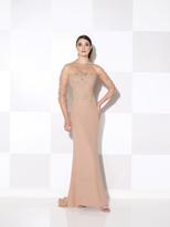 Cameron Blake - Sheer Floral Long Dress 115614