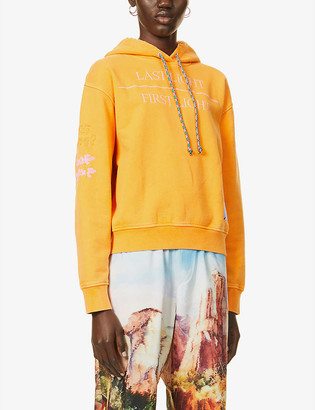 McQ Genesis II embroidered cotton-jersey hoody