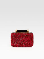 Diane von Furstenberg Tonda Small Crystal & Patent Leather Clutch