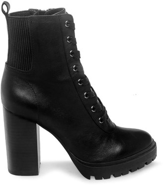 Steve Madden Latch Black Leather