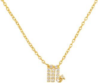 Latelita Diamond Zodiac Necklace Gold Scorpio