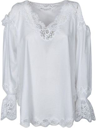 Ermanno Scervino Laced Detail Long-sleeved Blouse