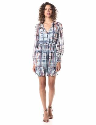 Parker Women's Paisley Long Sleeve Smocked Short Dress