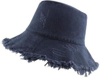 LACOFIA Women Sun Hats Wide Brim Ladies Beach Cap Outdoor Packable Summer Visors with Windproof Rope