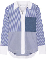 Elizabeth and James Keating Striped Cotton-poplin Shirt - Blue