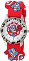 Marvel Boy's 'Captain America' Quartz Plastic Casual Watch
