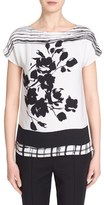 St. John Women's Floral Print Silk Top
