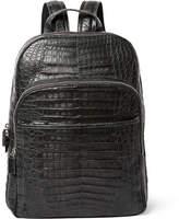 Santiago Gonzalez Crocodile Backpack - Charcoal