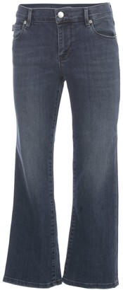 Love Moschino Cropped Jeans W/written