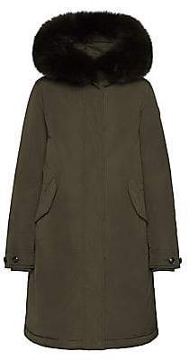Woolrich Women's Fox Fur Trim Parka