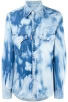DSQUARED2 bleached effect denim shirt