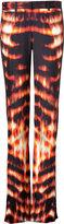 Roberto Cavalli Flame Printed Silk Trousers