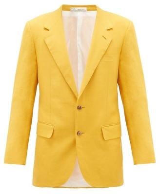 Umit Benan B+ - Roped-shoulder Linen-blend Suit Jacket - Yellow