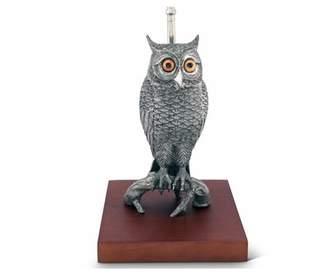 "Vagabond House Harvest Pewter Owl 38"" Table Lamp House"