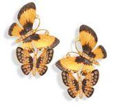 Annoushka Butterflies Duet Diamond & 18K Yellow Gold Stud Earrings