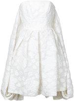 Isabel Sanchis strapless floral dress