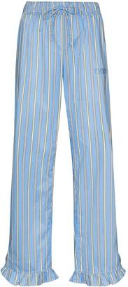 Ganni Vertical-Stripe Pajama Trousers