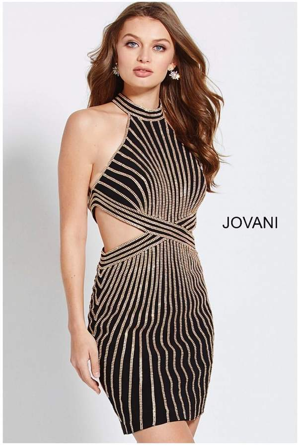 Jovani Gold Embellished Dress