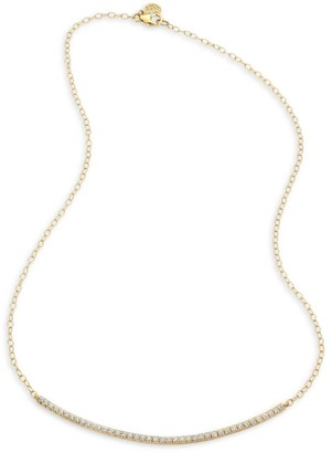 Carelle Moderne Pave Diamond Bar Necklace