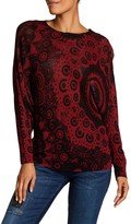 Desigual Oversized Sweater With Back Cut Out