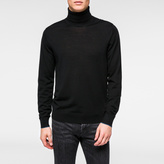 Paul Smith Men's Black Merino-Wool Roll-Neck Sweater