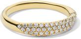 Ippolita Stardust 18k Diamond Squiggle Ring, Size 7