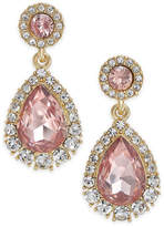 Charter Club Gold-Tone Pave & Colored Crystal Drop Earrings, Created for Macy's
