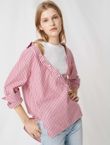 Maje Top with scarf-style short sleeves