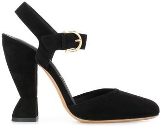 Salvatore Ferragamo sculptural heel Mary Jane sandals