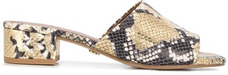 Kurt Geiger Palma snakeskin effect 50mm sandals
