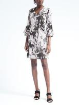 Banana Republic Print Bell-Sleeve Shift Dress