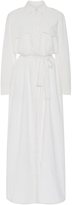 Equipment White Cotton Maxi Shirt Dress