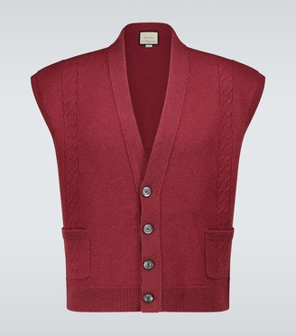 Gucci Cable-knitted wool vest