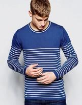 !solid Breton Stripe Knitted Jumper
