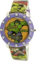 Marvel Comics Girl's MVCAD16042 Polyurethane Quartz Watch