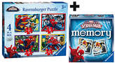 Ravensburger Marvel Spider-Man 4 in a box Puzzle & Memory