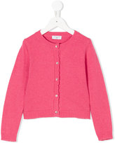 MonnaLisa scallop trim knitted cardigan - kids - Acrylic/Polyamide/Wool - 2 yrs