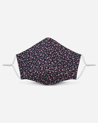 Express Pocket Square Clothing Navy Pink Floral Unity Face Mask