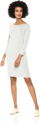 Daily Ritual Amazon Brand Women's Jersey 3/4-Sleeve Bateau-Neck T-Shirt Dress