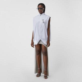 Burberry Stretch Silk Jersey Step-through Skirt