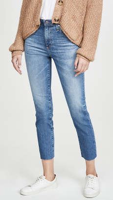 AG Jeans Isabelle High Rise Straight Crop Jeans