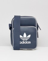 Adidas Originals Retro Flight Bag In Navy Bk2131