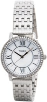 Timex Style Elevated Classic Crystals Watch - 30mm, Stainless Steel Bracelet (For Women)