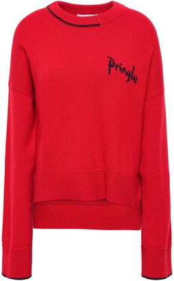 Pringle Intarsia-trimmed Cashmere Sweater