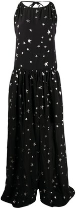 Amiri Front Slit Star Print Dress