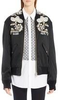Dolce & Gabbana Women's Embellished Gabardine Bomber Jacket