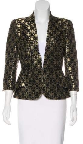 Alexander McQueen Metallic Lace Blazer