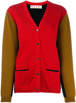Marni contrast knitted cardigan