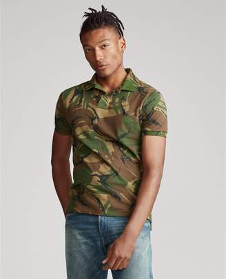 Ralph Lauren Custom Slim Fit Camo Mesh Polo