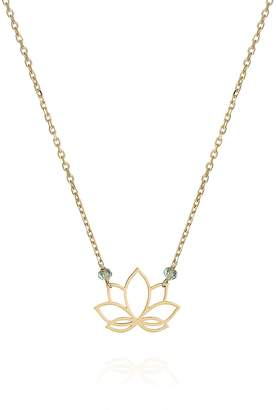 Perle de Lune Lotus Necklace